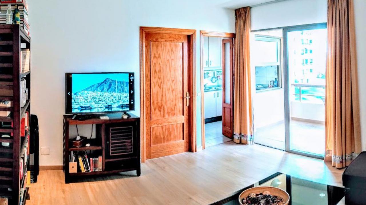 living room, kitchen, balcony